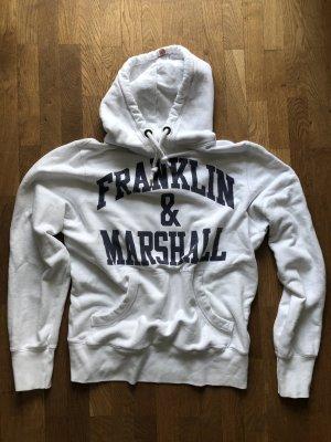 Franklin & marshall Jersey con capucha blanco-azul oscuro