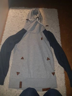 Naketano Hooded Sweater silver-colored-dark blue