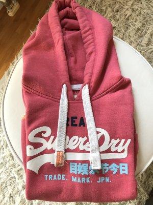 Superdry Jersey con capucha rojo claro