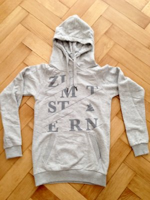 Hoodie von Zimtstern, grau mit Logo-Aufdruck