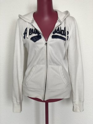 Aeropostale Sweat Jacket white-dark blue