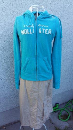 Hoody Shirtjacke türkisfarben von Holliter in Gr S