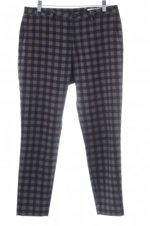 HOPE Peg Top Trousers black-grey check pattern casual look