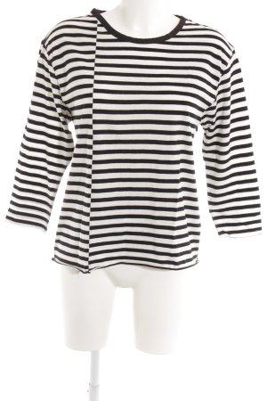 HOPE Sweatshirt weiß-schwarz Streifenmuster Casual-Look