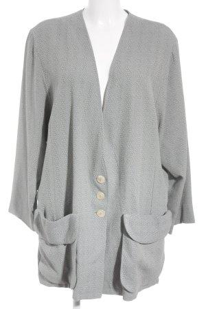 Hopsack Jerseyblazer graugrün-grau meliert Elegant
