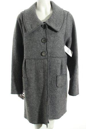 Hopsack Wool Coat grey classic style
