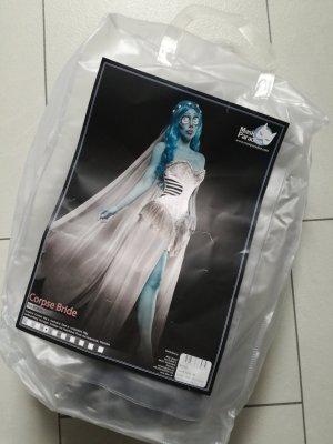Damespak wit-blauw
