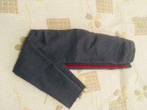 Zara Hoge taille jeans grijs-rood