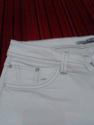 Cipo & Baxx pantalón de cintura baja blanco