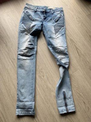 Yaya Biker jeans lichtblauw