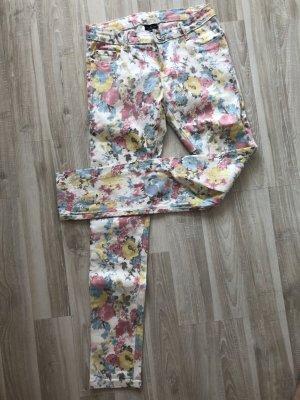 Flame pantalón de cintura baja multicolor