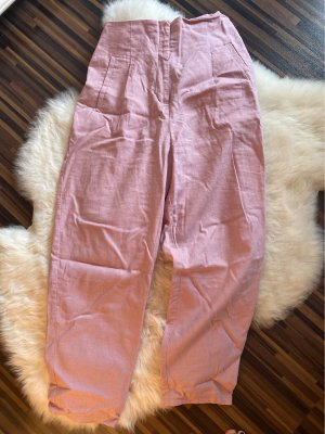 Asos High Waist Trousers dusky pink-pink
