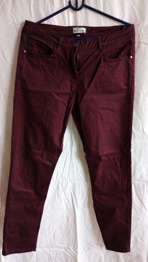 Blue Motion Pantalon cinq poches rouge foncé coton