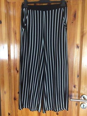 Pantalón tobillero negro-blanco