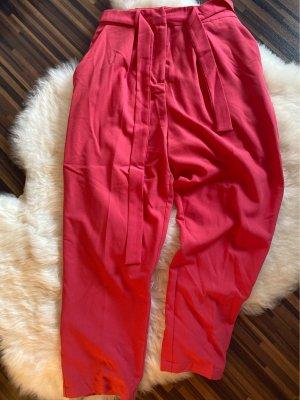 Asos Pantalone a vita alta rosso-rosso chiaro