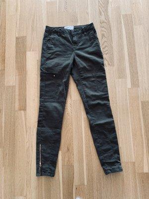 Vero Moda Lage taille broek olijfgroen-khaki