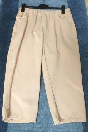 Pantalone a 3/4 beige Cotone