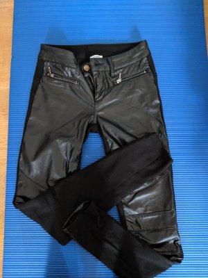 Liu jo Leather Trousers black