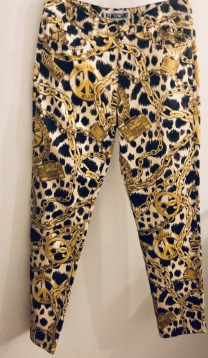 Moschino Pantalon cigarette multicolore