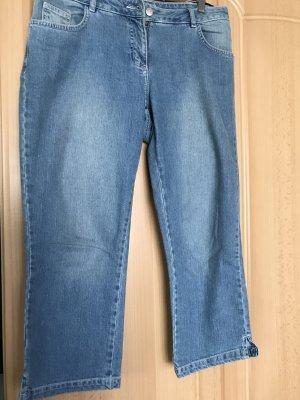 Jeans 3/4 bleu acier