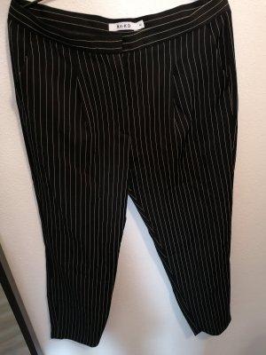 NA-KD Pantalón de pinza blanco-negro