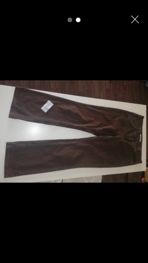 Mac Stretch Trousers dark brown-brown