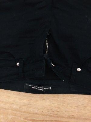 Stradivarius pantalón de cintura baja negro