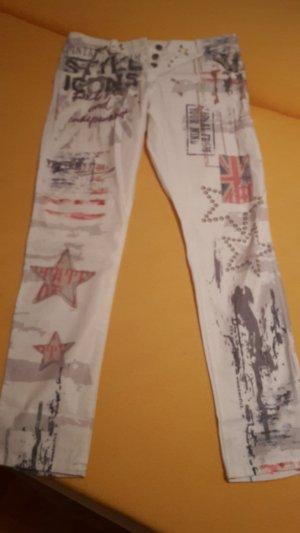 Made in Italy Pantalon blanc