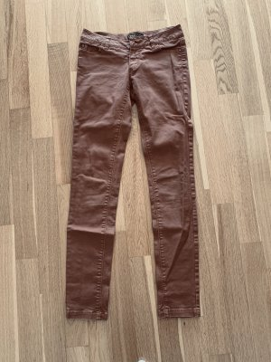 Only Low-Rise Trousers cognac-coloured-brown