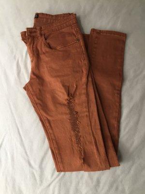 24Colours Pantalón de cinco bolsillos bermejo-coñac