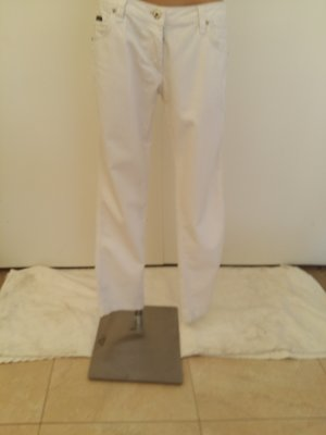 Dolce & Gabbana Low-Rise Trousers white cotton
