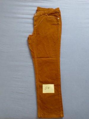 Corduroy Trousers cognac-coloured