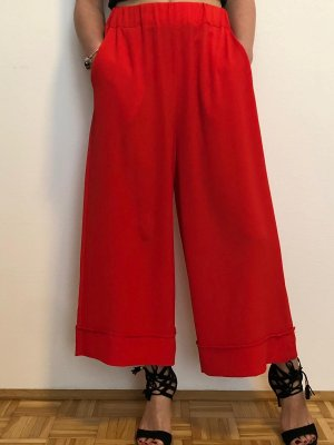 Made in Italy Pantalon large rouge