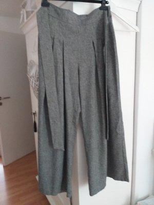 Pantalón anchos color plata-blanco Poliéster