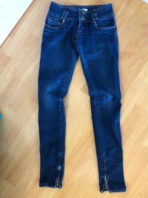 Pantalón de pinza alto azul