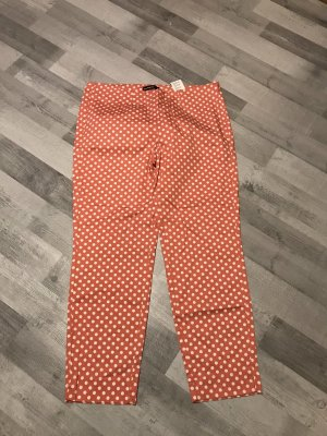 Cambio 7/8-broek wit-abrikoos