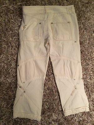 High 7/8 Length Trousers cream