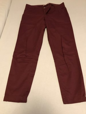 Drainpipe Trousers brown red