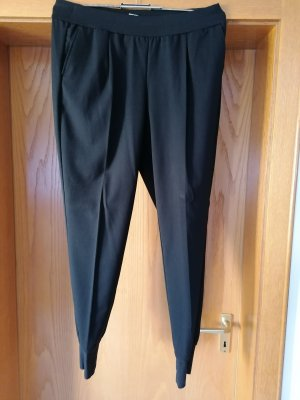 Qiero Lage taille broek zwart Polyester