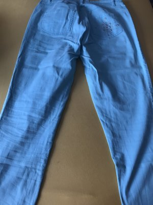 Pompöös Pleated Trousers light blue cotton