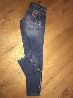Elisabetta Franchi 7/8 Length Jeans steel blue