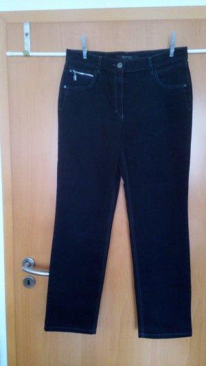 Cecil Drainpipe Trousers black