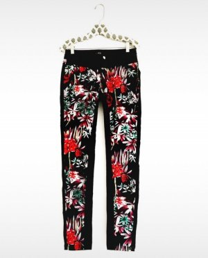 hose • anthropologie • bohostyle • hippielook • schwarz • flowers
