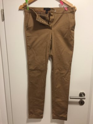 Mango 7/8 Length Trousers brown-light brown cotton