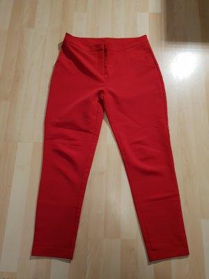 Pantalone da abito rosso-rosso mattone