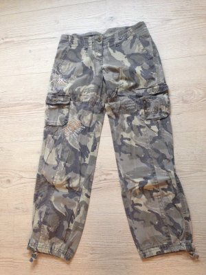 Pantalone cargo oro-cachi