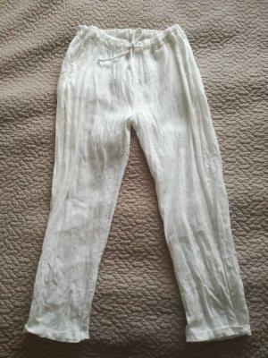 Pantalone di lino bianco Lino