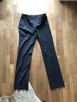 Pantalon en laine gris foncé laine vierge