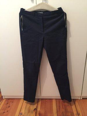 Hose aus Webstoff in dunkelblau