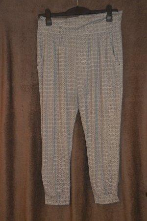 Esmara Pantalon 7/8 blanc-noir tissu mixte